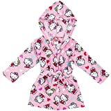 Komar Kids Hello Kitty Big Girls Pink Plush Velvet Hooded Bathrobe (5)
