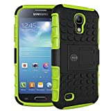 Galaxy s4 Case, Galaxy s4 Armor cases- Tough Armorbox Dual Layer Hybrid Hard/Soft Protective Case by Cable and Case - Green Armor Case
