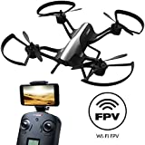 "Force1 F72 Drone with Camera - ""Rogue"" Wifi FPV 720p HD Camera Drone with 1 Key Takeoff Landing and 360° Tricks Quadcopter (Certified Refurbished)"
