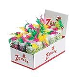 Zanies Fiesta Roller Cat Toy Display, 15-Pack, My Pet Supplies
