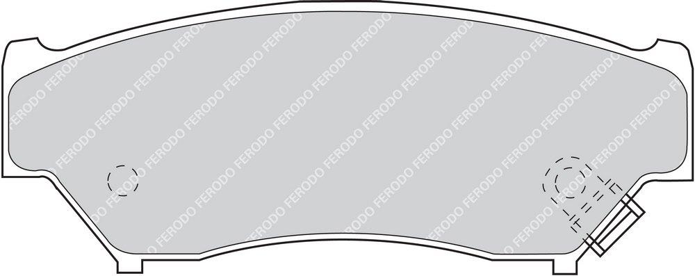 Premier Kit Pastiglie Freno Ferodo FDB1020 confezione 4 pezzi Freno A Disco -