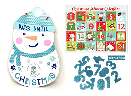 Ropeastar Christmas Decorative Signs (Snowman Countdown) -