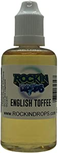 RockinDrops ENGLISH TOFFEE Food Flavoring Concentrate(50ml) Natural Extract Flavoring Extract For Candy Flavoring,Cake Flavors, Flavorings For Baking, Lipgloss Flavors- Vegan-Keto Friendly