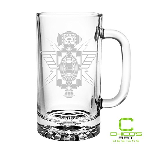 World of Warcraft - Dwarf Crest - Etched Beer Mug