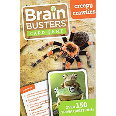 Brain Busters Card Game - Pets, Creepy Crawlies, Dinosaurs - with Over 150 Trivia Questions - (Set of 3 Cards) Educational Flash Cards v1: Toys & Games