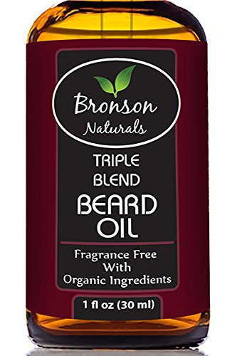 Bronson Naturals - BEST Natural & Organic Fragrance-Free Beard Oil With 100% Pure, Premium Argan Oil + Jojoba Oil + Almond Oil For Conditioning, Softening, Taming, and Eliminating Itching for - Best Style For Face Beard My