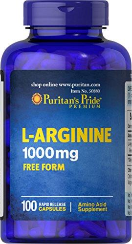 Puritan's Pride L Arginine 1000 mg 100 Capsules