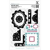 Brand New Xcut A5 Die Set 6/Pkg-Sew Lovely Trim Borders Brand New