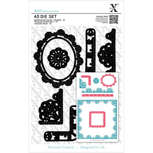 Brand New Xcut A5 Die Set 6/Pkg-Sew Lovely Trim Borders Brand New by M1N4B6