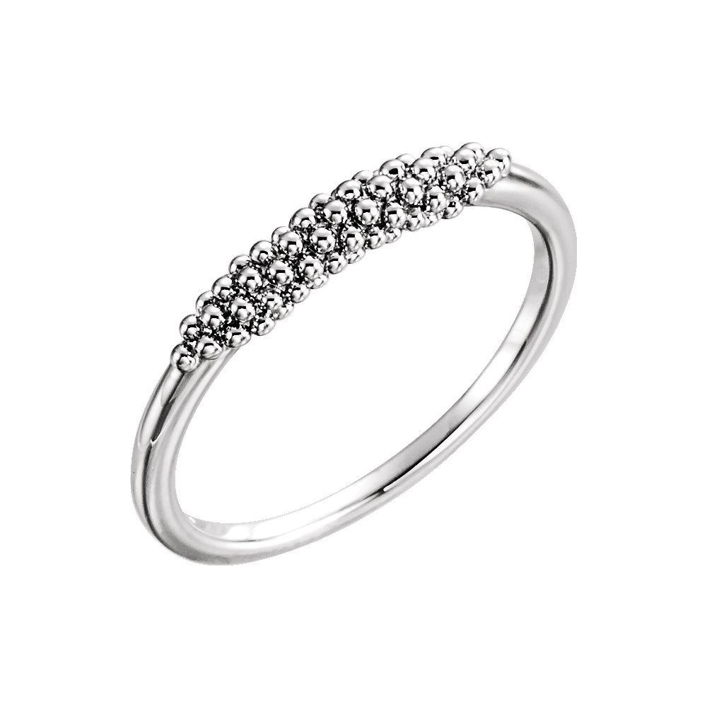 DiamondJewelryNY Rings Sterling Silver Beaded Ring