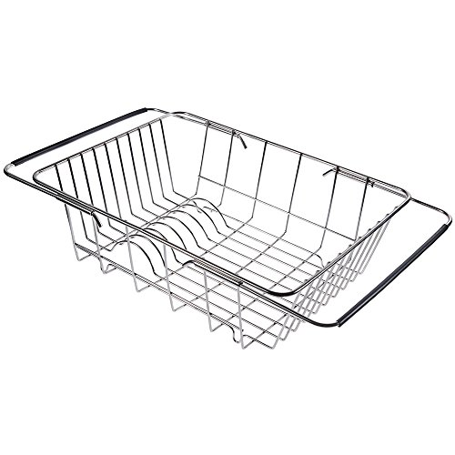 Lictin Sink Dish Drying Dish Drainer Rack, Stainless Steel R