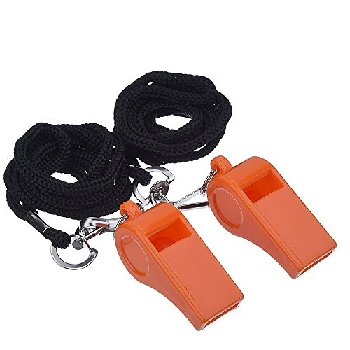 Mudder Plastic Sports Whistles Lanyard