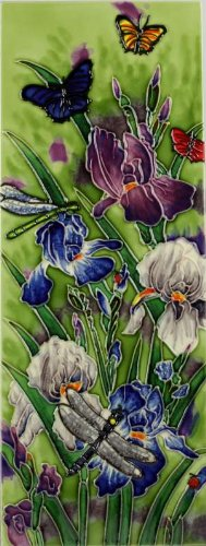 Natures Garden Benaya Art Tiles Contemporary Wall Tile Picture Plaque its as if they are alive with detail bold colours a perfect decorative wall gift purchase