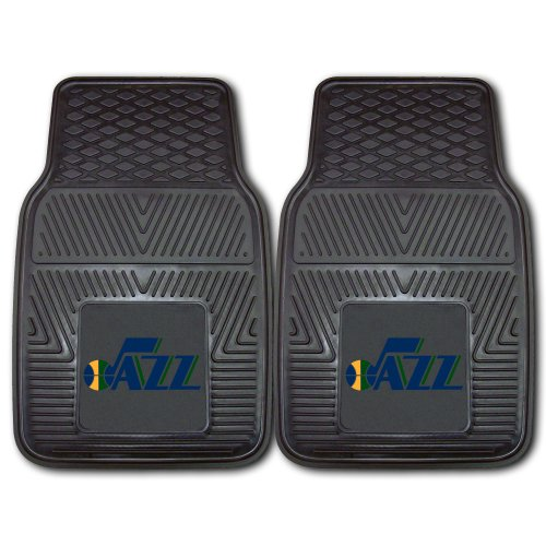 Fanmats 11807 NBA Utah Jazz Front Row Vinyl Heavy Duty Car Mat - 2 (Utah Jazz Two Piece)