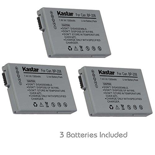 Kastar BP-208 Battery (3-Pack) for Canon DC10 DC19 DC20 D...