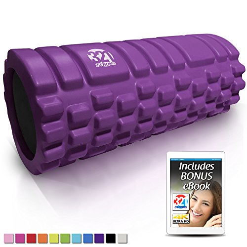 321 STRONG Foam Massage Roller - Deep Tissue Massager for Your Muscles & Back, Lavender