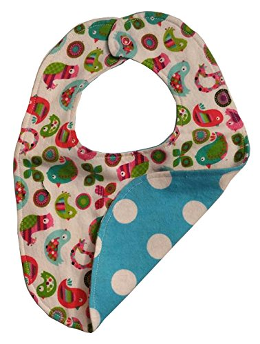 reversible-baby-bib-retro-birds-and-aqua-polka-dots