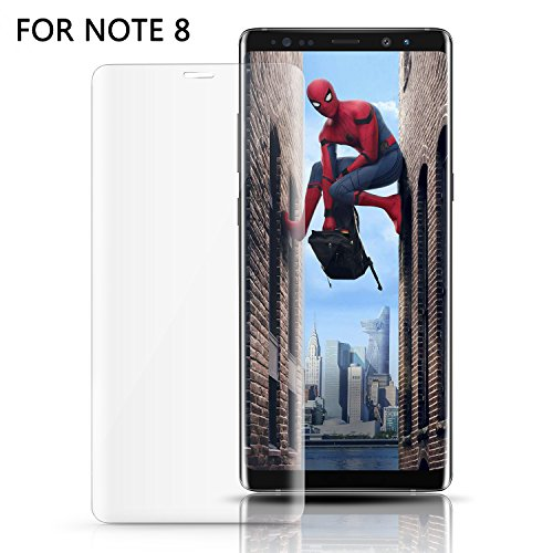 Price comparison product image Woitech Samsung Galaxy Note 8 Screen protector Film,  Full Coverage Bubble-free Tempered Glass Screen Protector for Galaxy Note 8