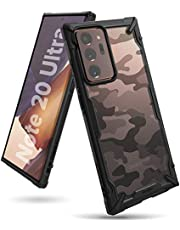 Ringke Fusion-X Designed for Galaxy Note 20 Ultra Case Camouflage Design Back Heavy Duty Shockproof TPU Rugged Bumper Phone Cover for Galaxy Note20 Ultra 6.9-inch (2020) - Camo Black