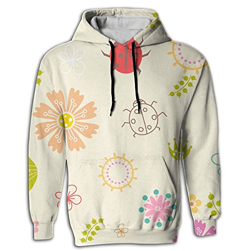 2017Independence Day Fashion Unisex Athletic Sweatshirts Cute Coccinella Septempunctata Youth Front Pocket Pullover Hoodies,Couples Mounted (Cheetah Girl Halloween Makeup)