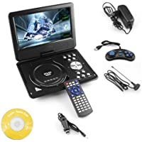 Maxbell 9.8 3D DVD Player Portable EVD with USB Playback TFT Swivel Flip Screen Game + MP3 + Card Reader Support + 3D Support