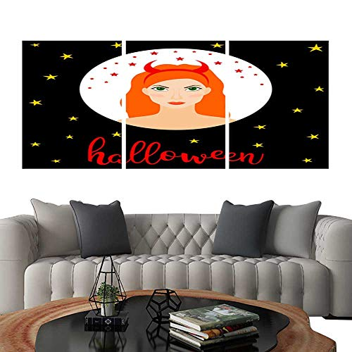 UHOO 3 Piece Wall Art Painting Happy Halloween Card Template 11. Living Room Kitchen 12