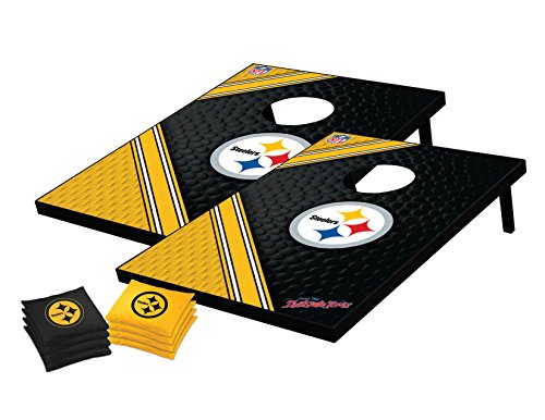 Wild Sports NFL Pittsburgh Steelers Tailgate Toss Bean Bag Game Set, Medium