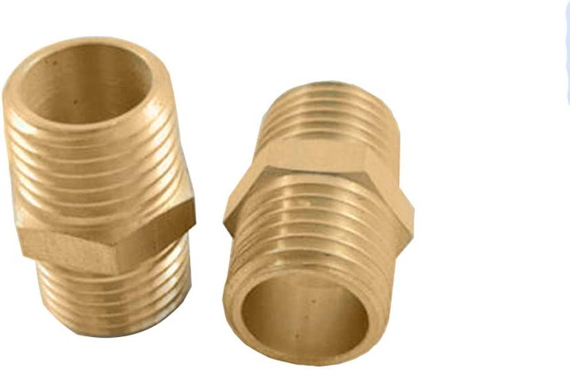 JJDD 1//4 NPT Female Hex Nipple Coupling Set,10Pcs 1//4-Inch NPT Air Hose Fitings with Solid Brass