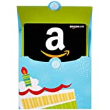 Amazon.com Gift Cards in a Birthday Reveal (Classic Black Card Design)