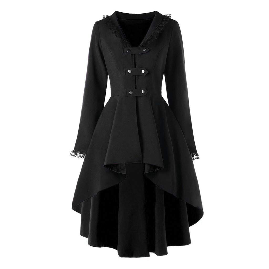 TIFENNY Coat Dress for Women Slim Casual Irregular Top Outwear Long Sleeve Lace Splice Formal Coats Jacket by TIFENNY_Shirts