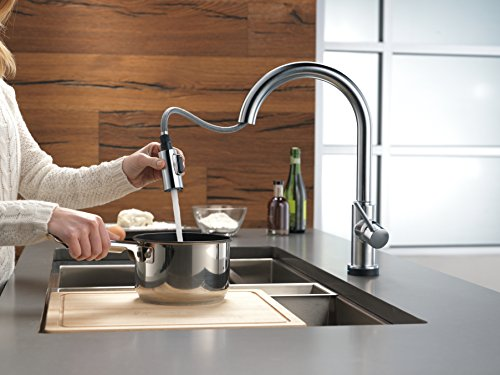 delta faucet 9159t ar dst trinsic single handle pull down kitchen