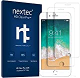 iPhone 6/7/8 Screen Protector, (2 Pack) Nextec Screen Protector for Apple iPhone 6/ 6s/ 6c, iPhone 7/ 7s, iPhone 8 (HD Clear Pro 2.1) 3D Touch/ Clear (Case Compatible) 5.0H PET+ Film