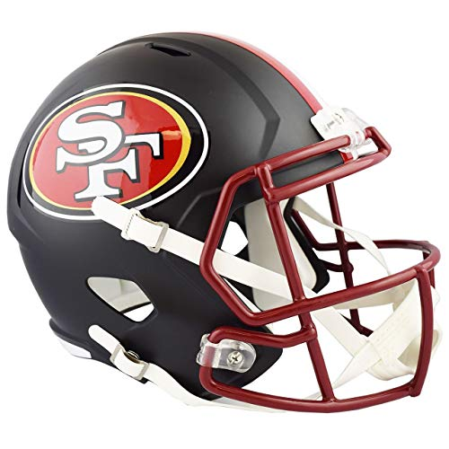 - Unsigned San Francisco 49ers Flat Matte Black Full Size Speed Replica Helmet Stock #148088