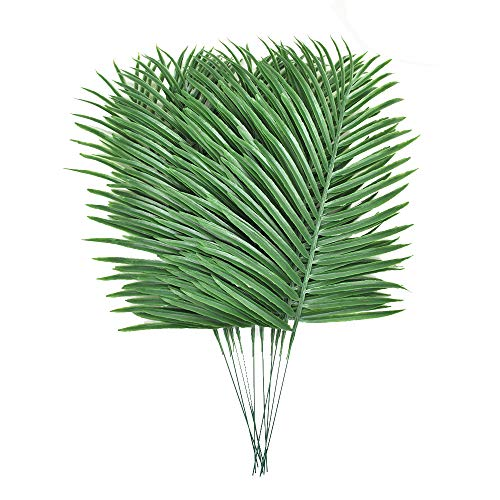 10pcs Faux Tropical Palm Leaves Artificial Palm Plants Leaves Imitation Ferns Artificial Plants Leaf for Home Kitchen Party Wedding Decorations ()