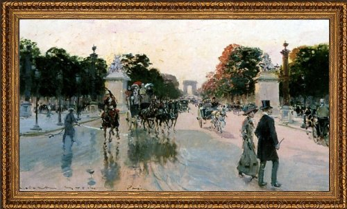 Art Oyster Georges Stein Les Champs Elysees Au Petit Matin - 15.05