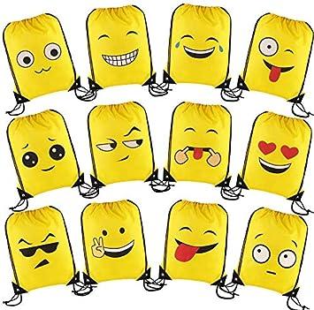 CCINEE Emoji - Bolsas de Mochila con Cordón para Regalo, 24 ...