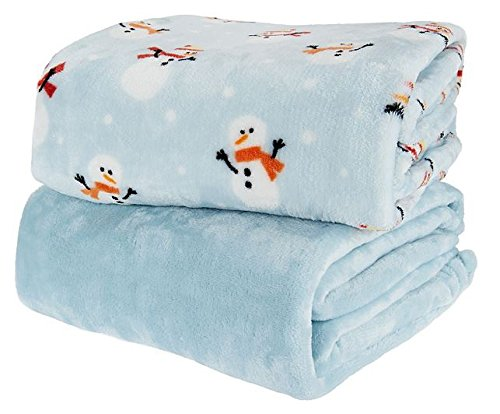 2 Pack Snowman Throws