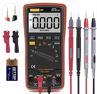 Autoranging-Digital-Multimeter, 6000Counts TRMS Leads Test Probe AC/DC Voltage Electronic Meter AC/DC Voltage/Account,Voltage Alert, Amp/Ohm/Volt Multi Tester/Diode