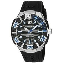Technomarine TM-515011 Men's 'Black Reef' Swiss Quartz Stainless Steel Casual Watch
