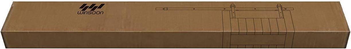 WINSOON - Kit de rieles para puerta corredera de barno, color ...