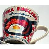 Martin Wiscombe 1-Piece Stoneware Large Mug Full English, Assorted Colors