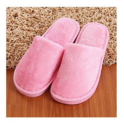 Hiver Fuyingda Femmes Chaussures Coton Chaussons Hommes Rose PP8wqr5