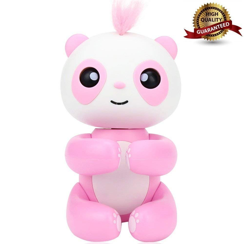 GIVBRO Finger Panda, Smart interattivo Giocattolo per Bambini, Idee Regalo (Rosa).