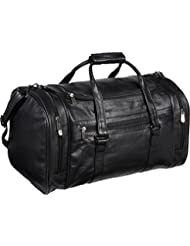 AmeriLeather Leather 20 in.U Shaped Duffel