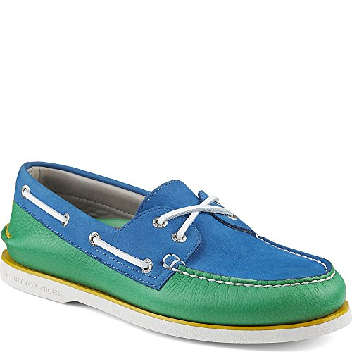 Sperry Top-sider Gold Cup Autentica Scarpa Originale Da Barca Kelly / Royal