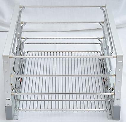 Cesta redonda de cocina Armario (1 alambre cromado Carril guía de ...