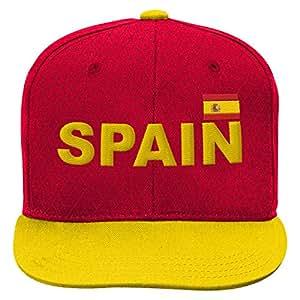 World Cup Soccer Spain Mens -Jersey Hook Flag Snapback, Burgundy, One Size