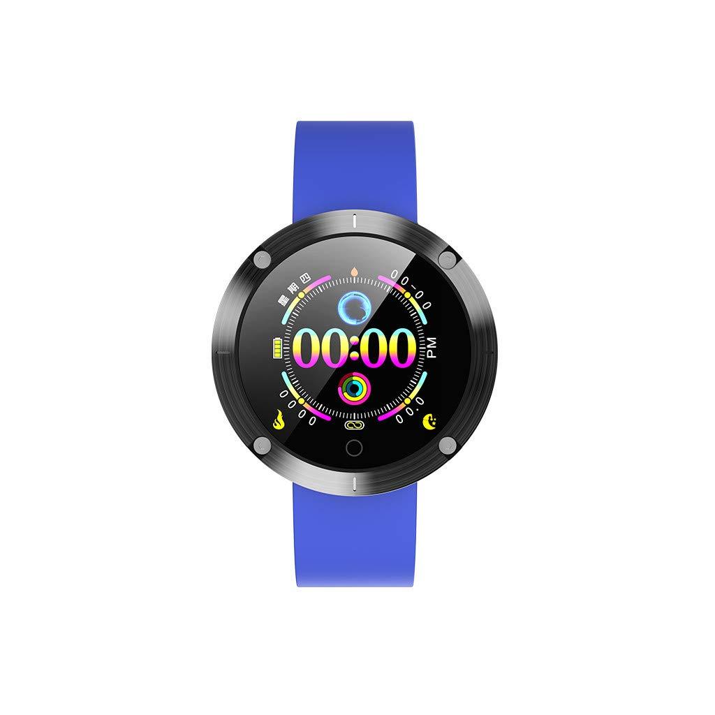 Hot Sale! NDGDA, Blue-Tooth Smart Watch Heart Rate Oxygen Blood Pressure Sport Fitness Tracker W5 (Blue)