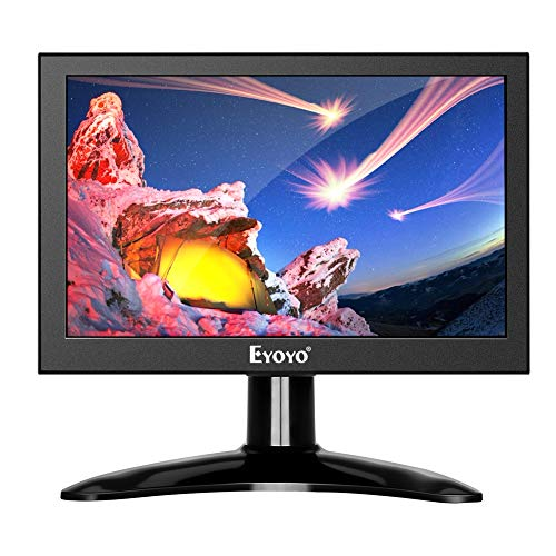 Eyoyo 7 inch Small HDMI LCD Monitor Portable IPS Screen 1280x800 16:10 Support HDMI VGA AV BNC Inputs