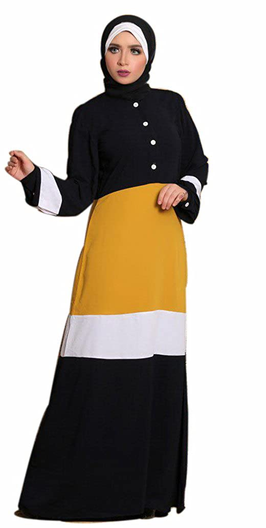 3c6076c75bae1 Amazon.com: Muslim Women's Dress Pure Egyptian Crepe Abaya Set ...